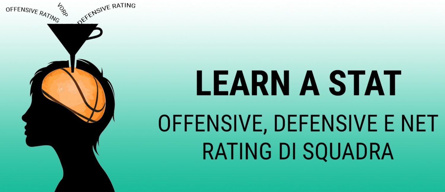 Learn a Stat: Offensive, Defensive e Net Rating di squadra